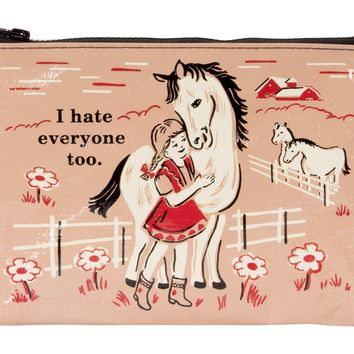 I Hate Everyone Too Zipper Pouch