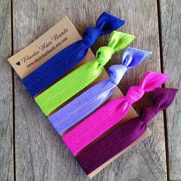 The Melissa Hair Tie-Ponytail Holder Collection by Elastic Hair Bandz on Etsy