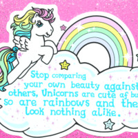 Unicorn and Rainbows sticker