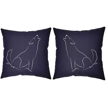Howling Wolf Throw Pillows