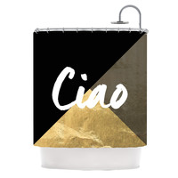 "KESS Original ""Ciao"" Metallic Shower Curtain"