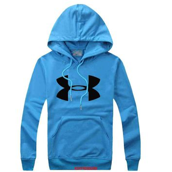 Under Armour Women Men Casual Long Sleeve Top Sweater Hoodie Pullover Sweatshirt-4