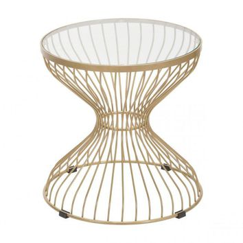 ZUO Modern Rose 101035 Side Table Gold
