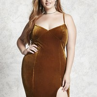 Plus Size Velvet Cami Dress