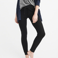 Womens Thermal Knit Leggings | Womens Bottoms | Abercrombie.com