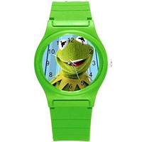 Kermit the Frog Girls or Boys Watch with Green Plastic Watch Band