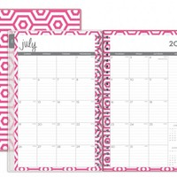 "Dabney Lee for Blue Sky ""Hexagon"" Medium Tabbed Weekly/Monthly Wire-O Planner"
