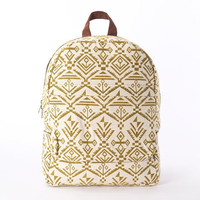 Everyday Backpack Yellow Navajo Laptop Bag, Southwestern Laptop Backpack, Boho chic Weekender Backpack