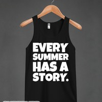 Every Summer Has a Story-Unisex Black Tank