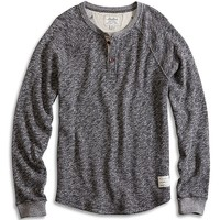 Lucky Brand Heather Henley Mens