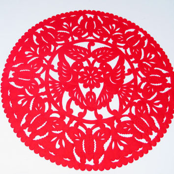 Buy one and get one for FREE, Mexican Wedding Decoration, Red Table Runner, Papel Picado, Fiesta Party, Style Ceremony, birthday party,