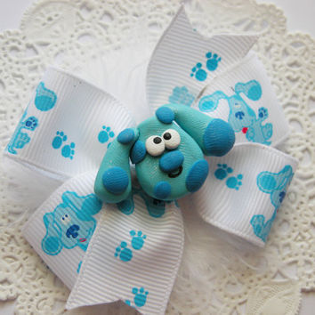 Blues Clues Hair Bow for Babies Girls Teens and Adults Kawaii Fashion