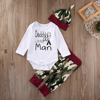2pcs suit newborn baby boys girls clothing sets  Baby Boy Girl Camo Romper Tops Pants Legging Outfits Set Clothes
