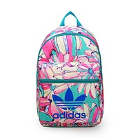 Adidas Fashion Flower Print Shoulder Bag Travel Bag School Backpack