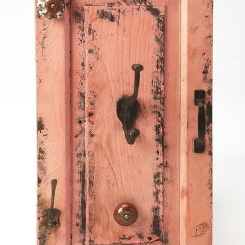 Butler Neely Rustic Pink Wall Mount Hook Rack