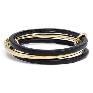 Soko Horn & Brass Linked Bangle Bracelet | Nordstrom