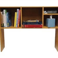 The College Cube - Dorm Desk Bookshelf - Beech (Natural Wood)