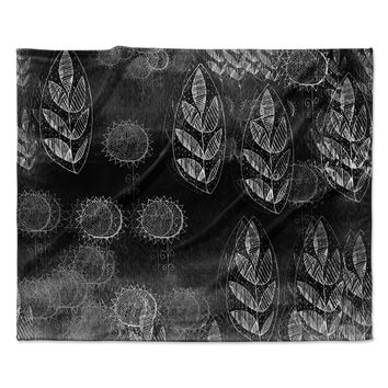 "Marianna Tankelevich ""Grey Dream"" Black Gray Fleece Throw Blanket"