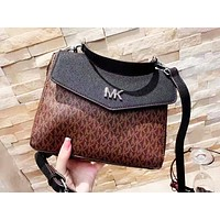 MK hot seller of printed patchwork color lady casual shoulder bag shopping bag