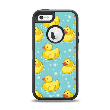 The Cute Rubber Duckees Apple iPhone 5-5s Otterbox Defender Case Skin Set