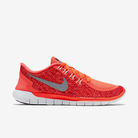The Nike Free 5.0 Print Women's Running Shoe.