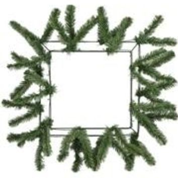 Square Work Wreath Form: Green