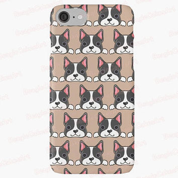 Boston Terrier Phone Case, iPhone 7, iPhone 7 Plus, iPhone 6, 5s, 5c, Dog Phone Case, Puppy Phone Case, Animal Phone Case, Kawaii Phone Case