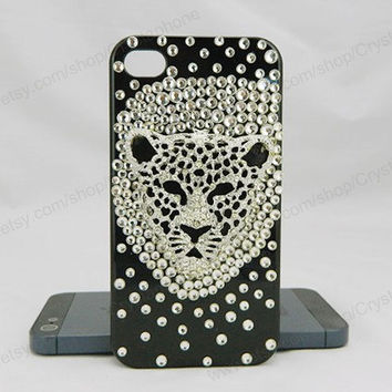 Crystal Lion  iPhone case,bling iphone 6 case,Crystal iphone 6 Plus,Rhinestone iphone 5/5S/5c,iphone 4 case samsung galaxy S3/S4/S5