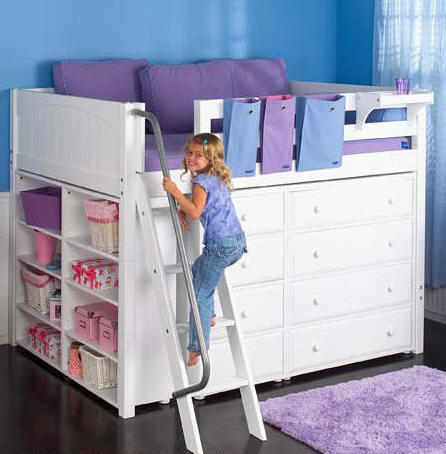 Metra Full Size Middle High Storage Loft | Totally Kids