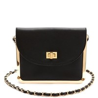 Metallic Trim Chain Strap Bag