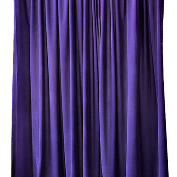 Beautiful Ready Made Size Home Living Room Bedroom Store Window Treatments Decor Drapery Purple Velvet 84 inch Curtain Long Panels