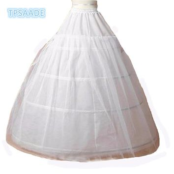 3 Hoop Ball Gown Wedding Slip Petticoats For Wedding Dress Wedding Underskirt Gauze Wedding Bride Bustle White