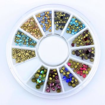 Mixed Color Manicure Rhinestones For Nails AB Glitter DIY Crystal To Charms 3D Nail Art Decorantions ZP191