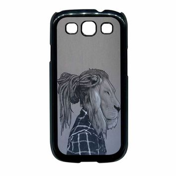 Rock Rasta Reggae Bob Marley Beads Dreadlock African Lion Samsung Galaxy S3 Case