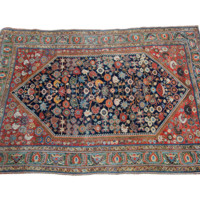 4.5x6.5 Antique Qashqai Area Rug