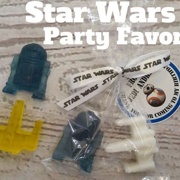 Star Wars Favors with Tags Included - R2D2 & XWing soaps with bags and tags included for Kids Birthday Party Favors,  Pack of 20