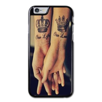 Love Qutoe Series One Life One Love Forever Tattoo iPhone 6 Hard Case (4.7 Inch) - Custom iPhone 6 Cases (4.7 Inch)
