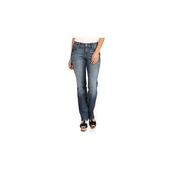 Faded Glory Women's Core Straight Leg Jeans, 18A, Milan Wash
