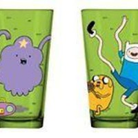 Adventure Time Set of 4 Green Drinking Pint Glasses