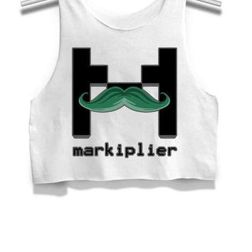Markiplier Womens Crop Tank Top