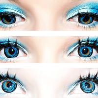 eos barbiedoll blue Circle Lens Cosmetic Big Eye Colored Contacts Lenses | EyeCandy's