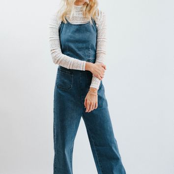 Dance All Night Long Wide Leg Denim Jumpsuit