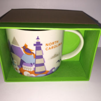 starbucks you are here collection north carolina ceramic coffee mug new with box