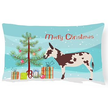 American Spotted Donkey Christmas Canvas Fabric Decorative Pillow BB9218PW1216