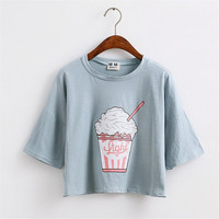 Ice Cream Crop Top