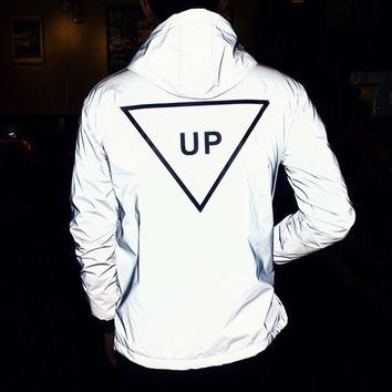 UP UP UP 3M REFLECTIVE UNISEX JACKET
