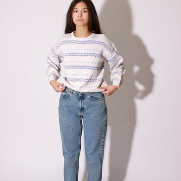 Pastel Fair Isle Sweater / L