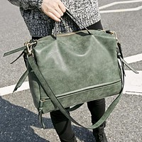 B1 Nubuck Leather Tote Messenger Bag - 50% Off Today