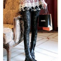 *Free Shipping@ Gold Lace Legging One Size QZK11926go from efoxcity