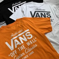 hcxxx 19May 2270 Vans sprint Letter Loose Casual T-shirt